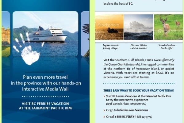 BC Ferries Rack Card