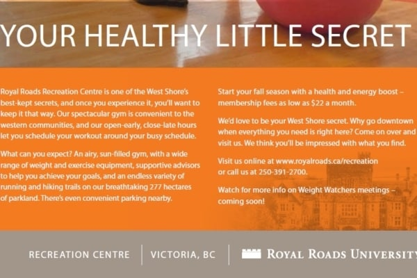 Royal Roads Rec Centre – Your Healthy Little Secret