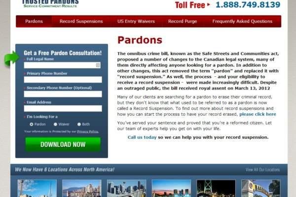 Trusted Pardons – web content