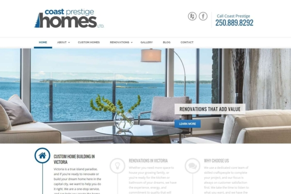 Coast Prestige Homes – web content